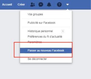 Passer au nouveau Facebook 2020